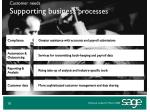 customer needs supporting business processes