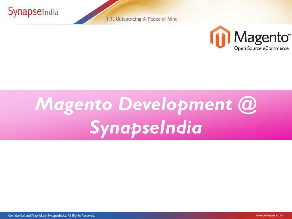 Magento Development @ SynapseIndia