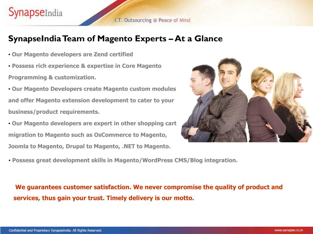 SynapseIndia Team of Magento Experts – At a Glance
