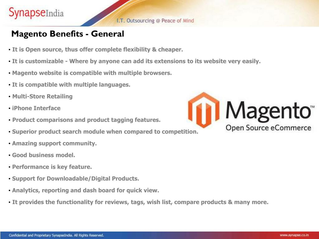 Magento Benefits - General