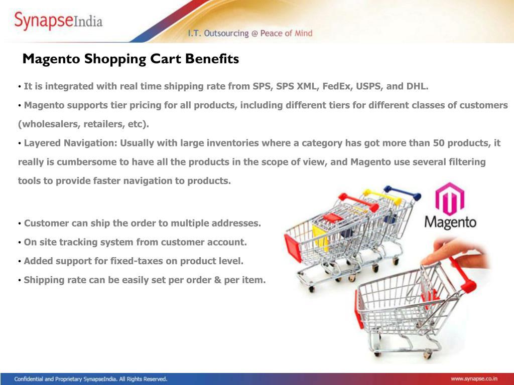 Magento Shopping Cart Benefits