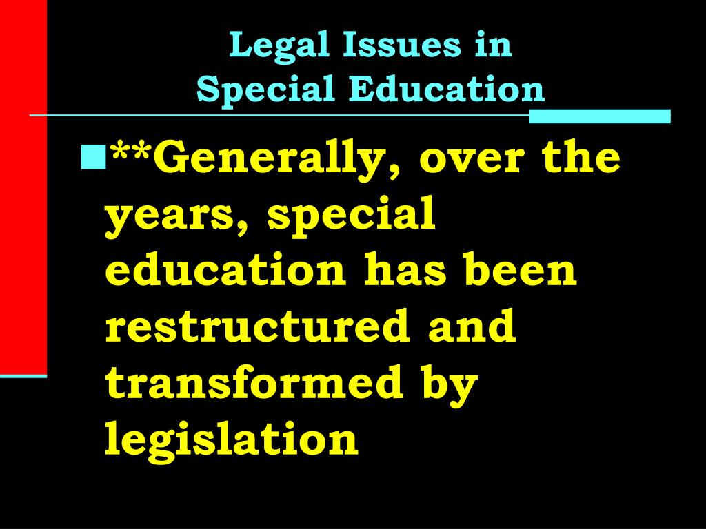 issues in education This course provides teacher leaders with the opportunity to examine current legal and ethical issues in the educational setting legal and ethical issues will be identified through action research activities covering current laws, policies and politics, moral issues, academic integrity, privacy and confidentiality, legal issues involved in grant writing and discrimination and equal protection.
