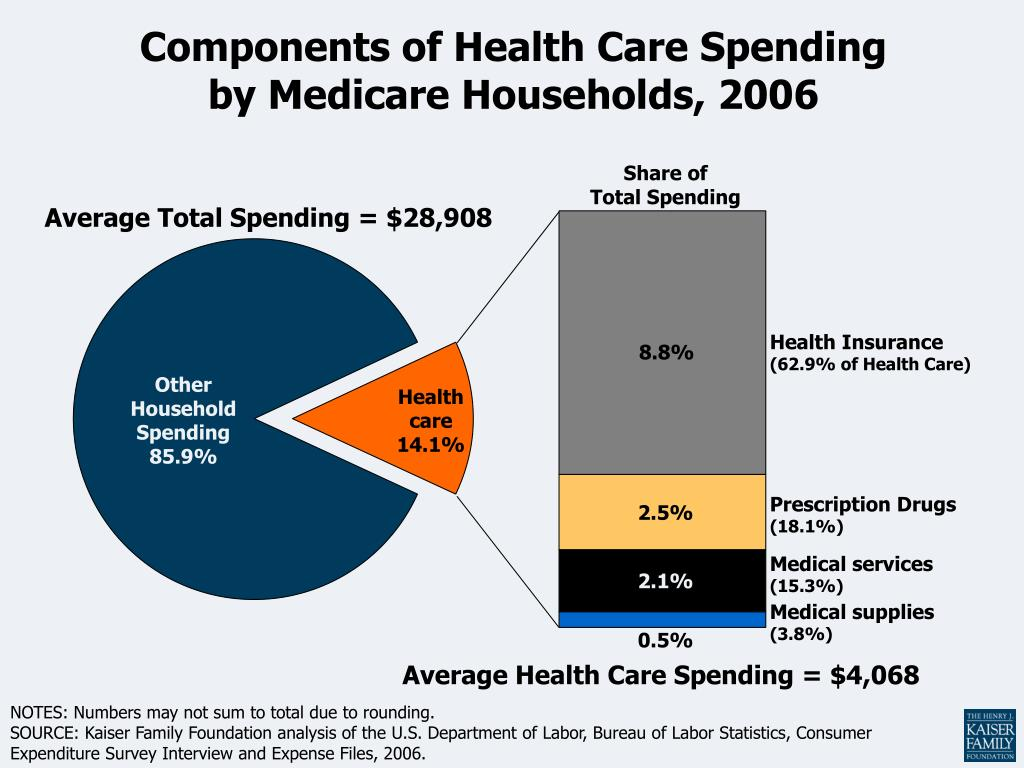 components of health care spending by medicare households 2006 l.