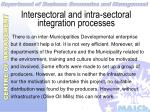 intersectoral and intra sectoral integration processes33