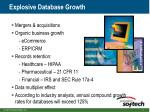 explosive database growth
