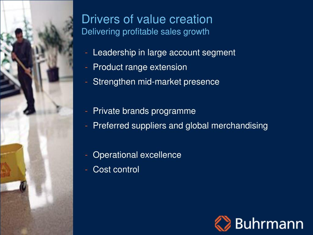 Drivers of value creation