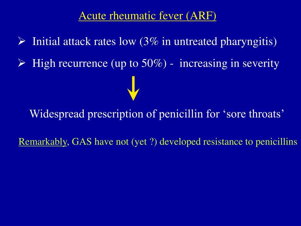 Acute rheumatic fever (ARF)