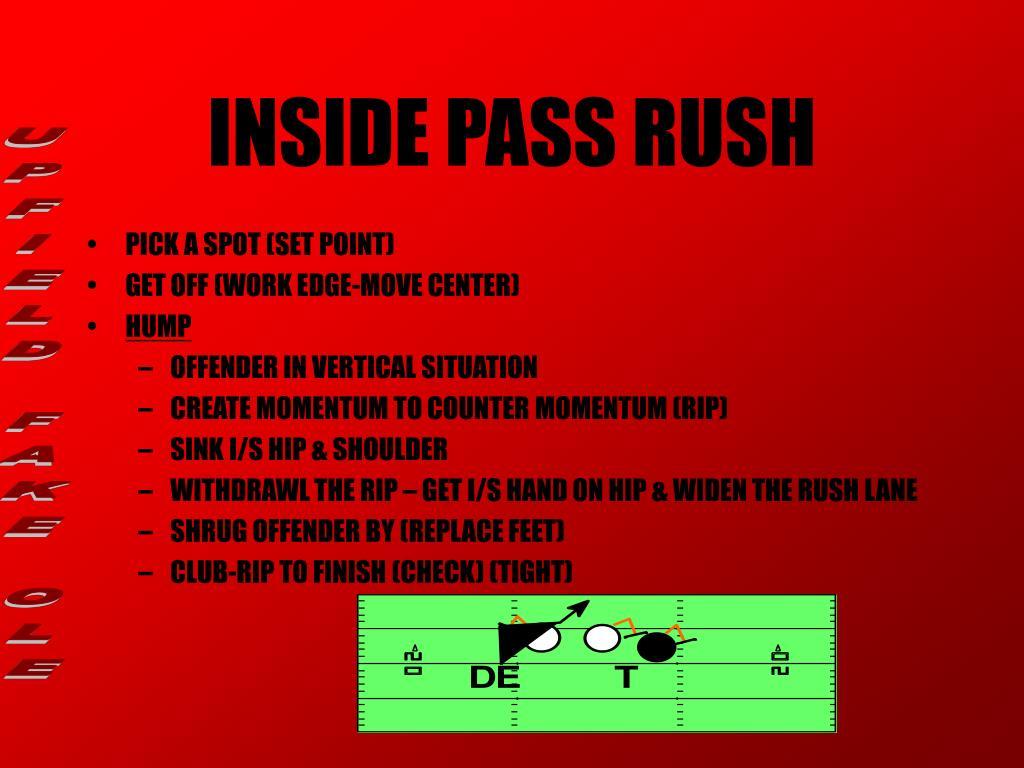 INSIDE PASS RUSH