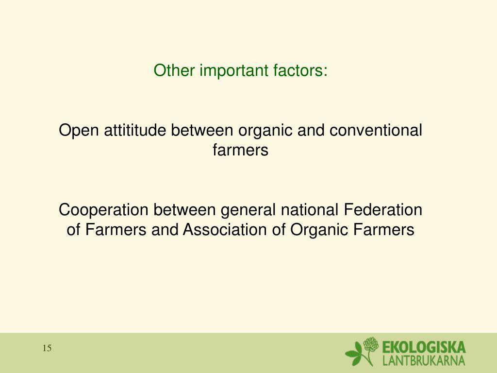 Other important factors: