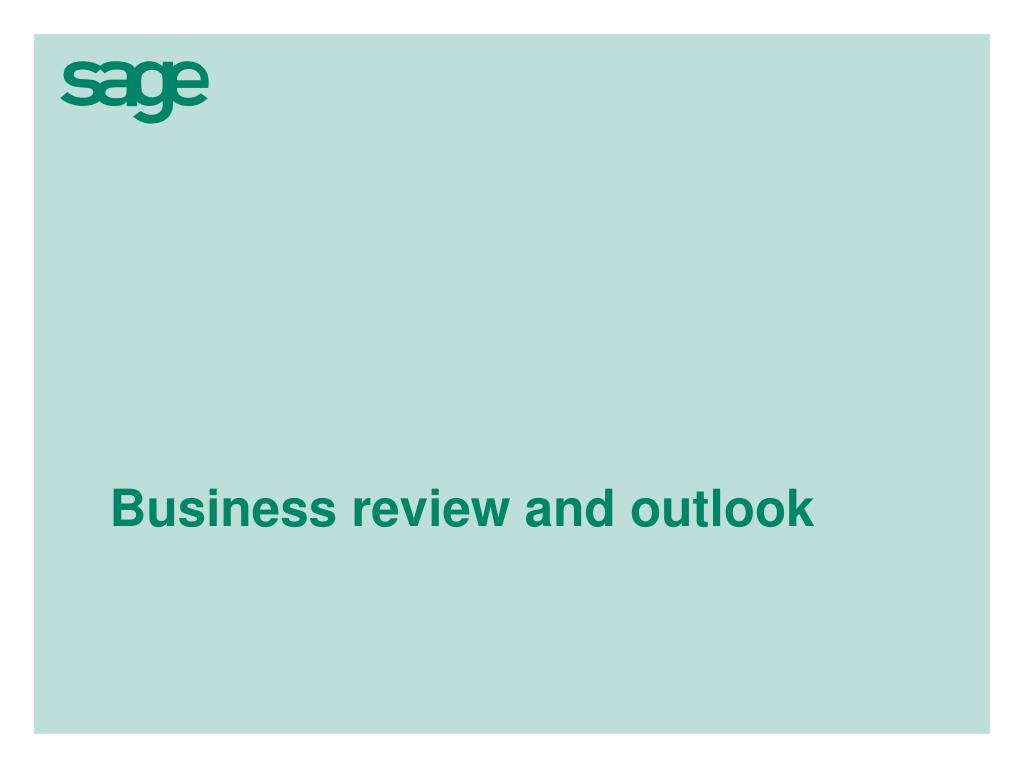 Business review and outlook