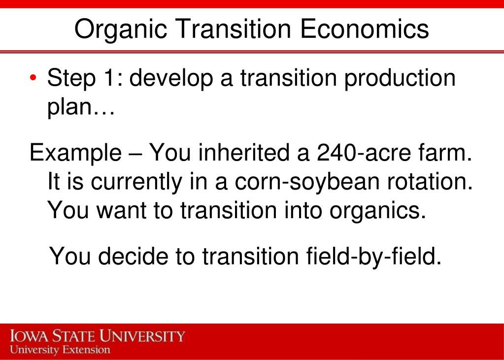 Organic Transition Economics