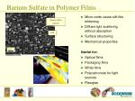barium sulfate in polymer films