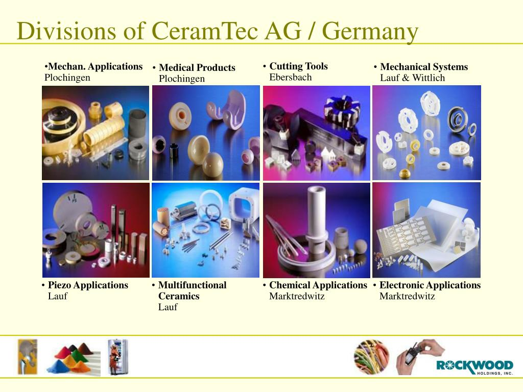 Divisions of CeramTec AG / Germany