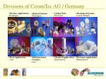 divisions of ceramtec ag germany