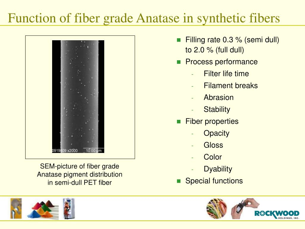 Function of fiber grade Anatase in synthetic fibers
