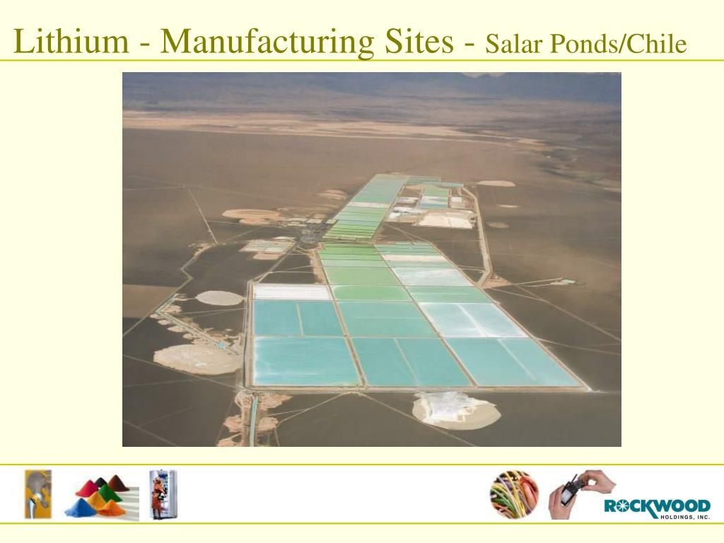 Lithium - Manufacturing Sites -