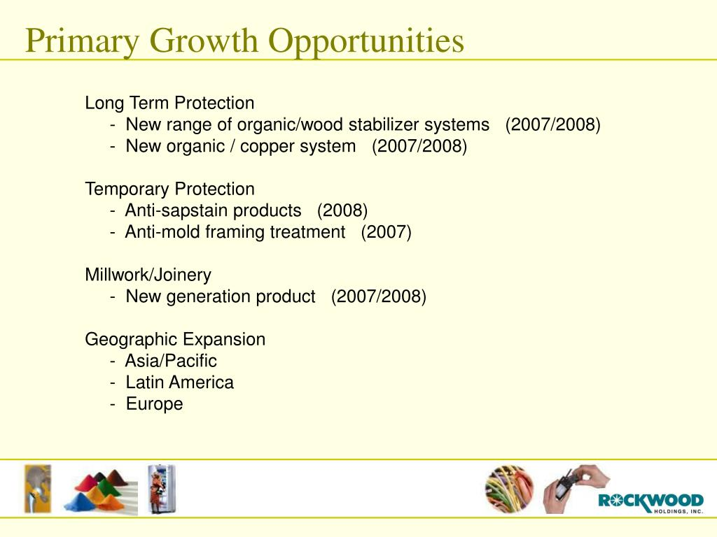 Primary Growth Opportunities