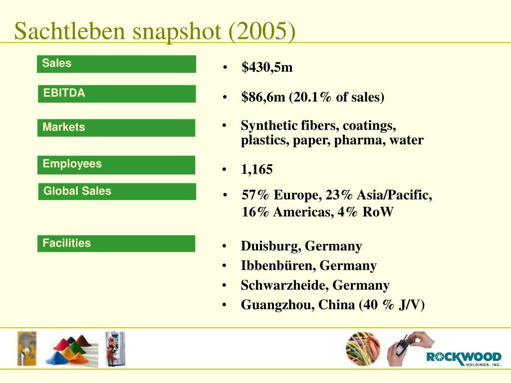 Sachtleben snapshot (2005)