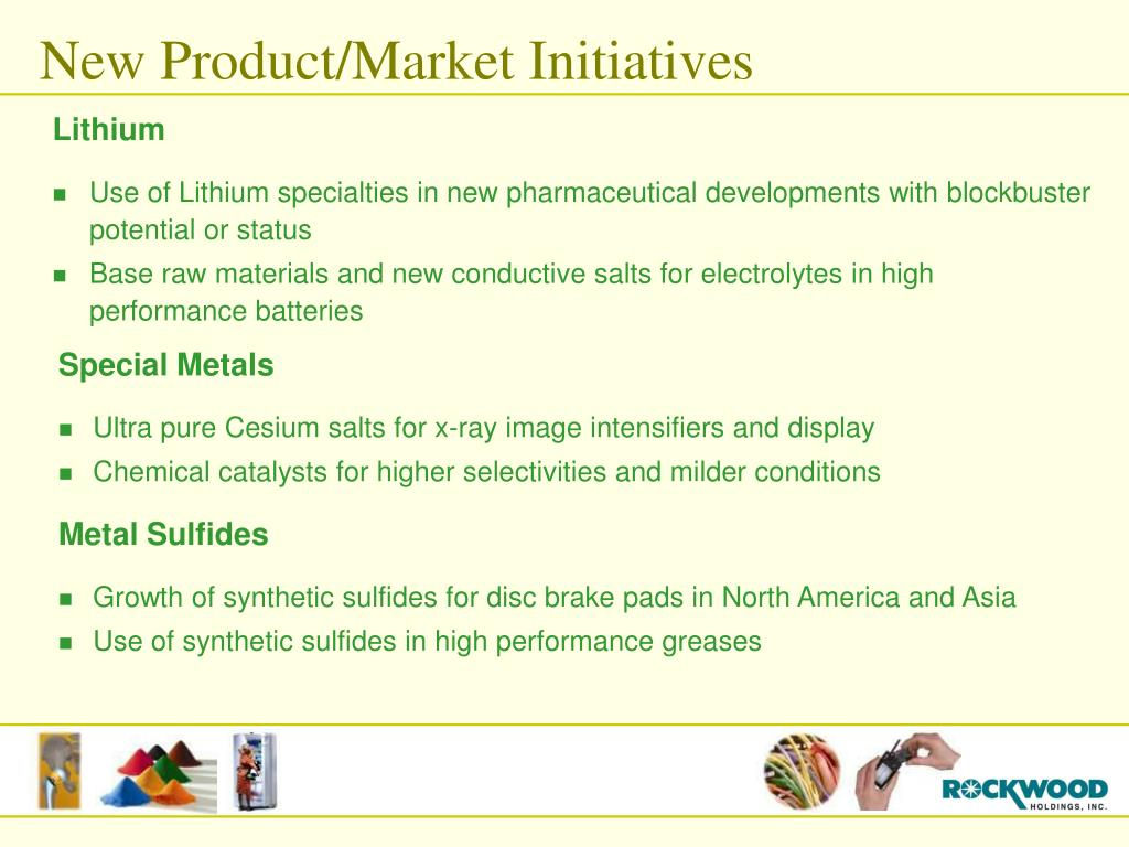 New Product/Market Initiatives