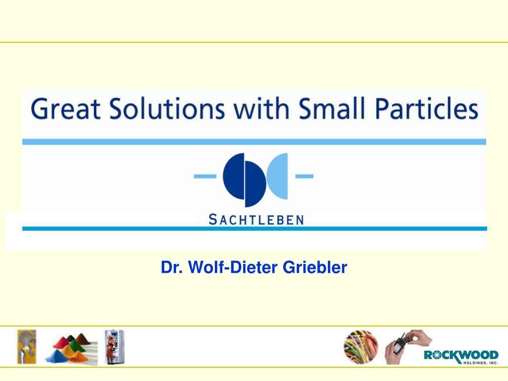 Dr. Wolf-Dieter Griebler