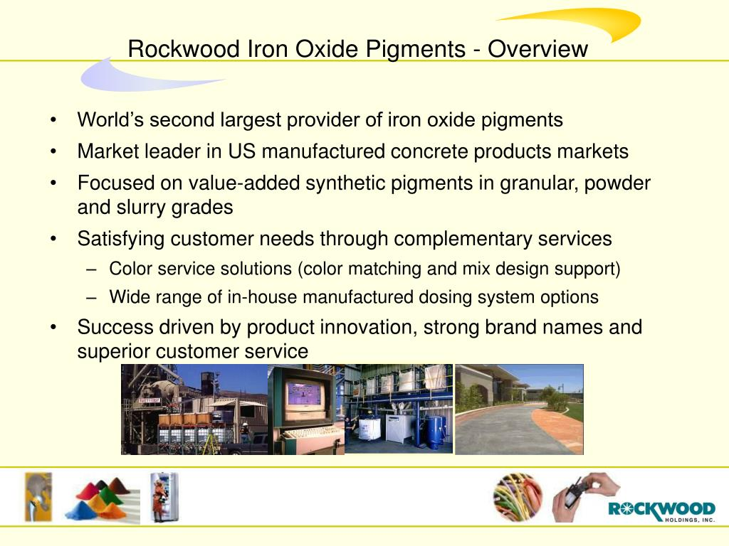 World's second largest provider of iron oxide pigments