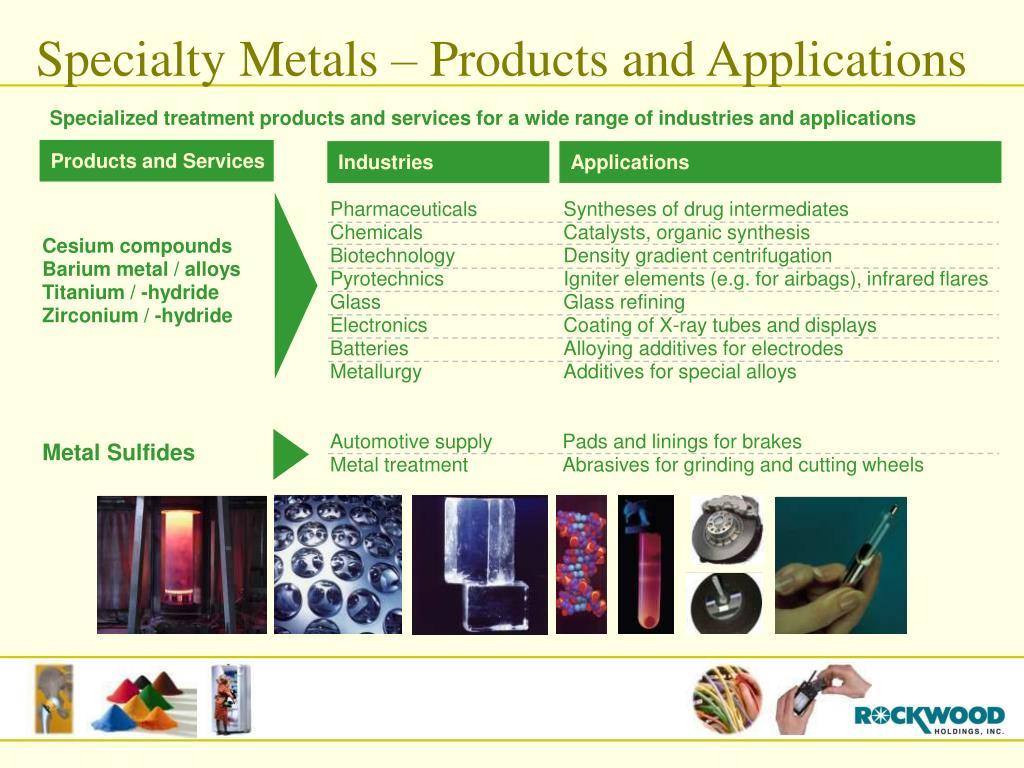 Specialty Metals