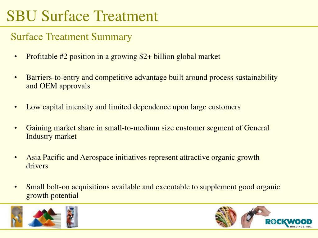 Surface Treatment Summary