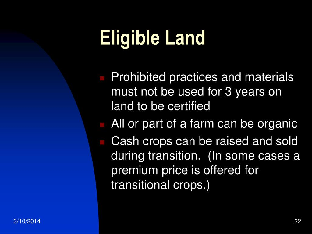 Eligible Land