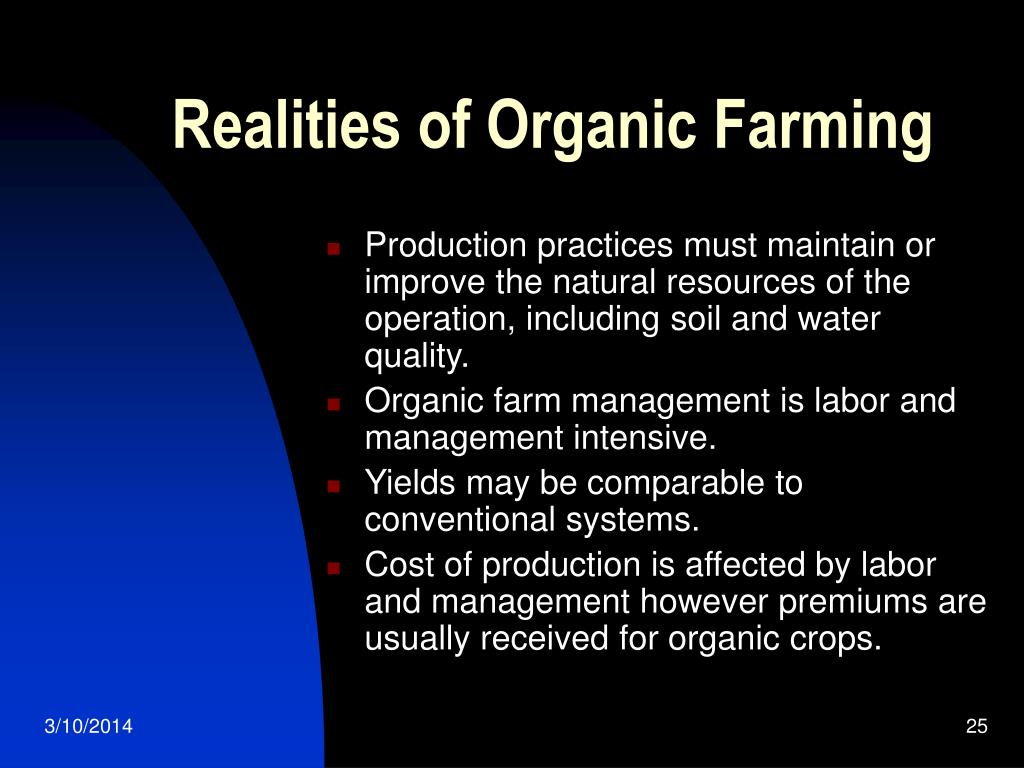 Realities of Organic Farming