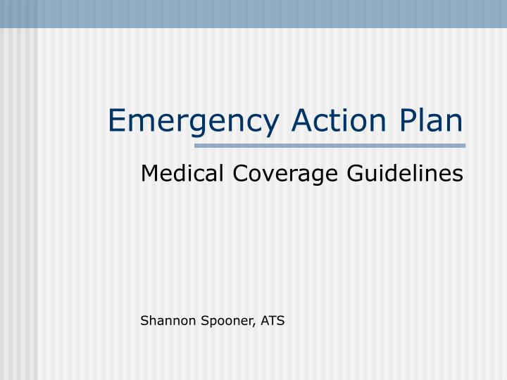 Ppt  Emergency Action Plan Powerpoint Presentation  Id