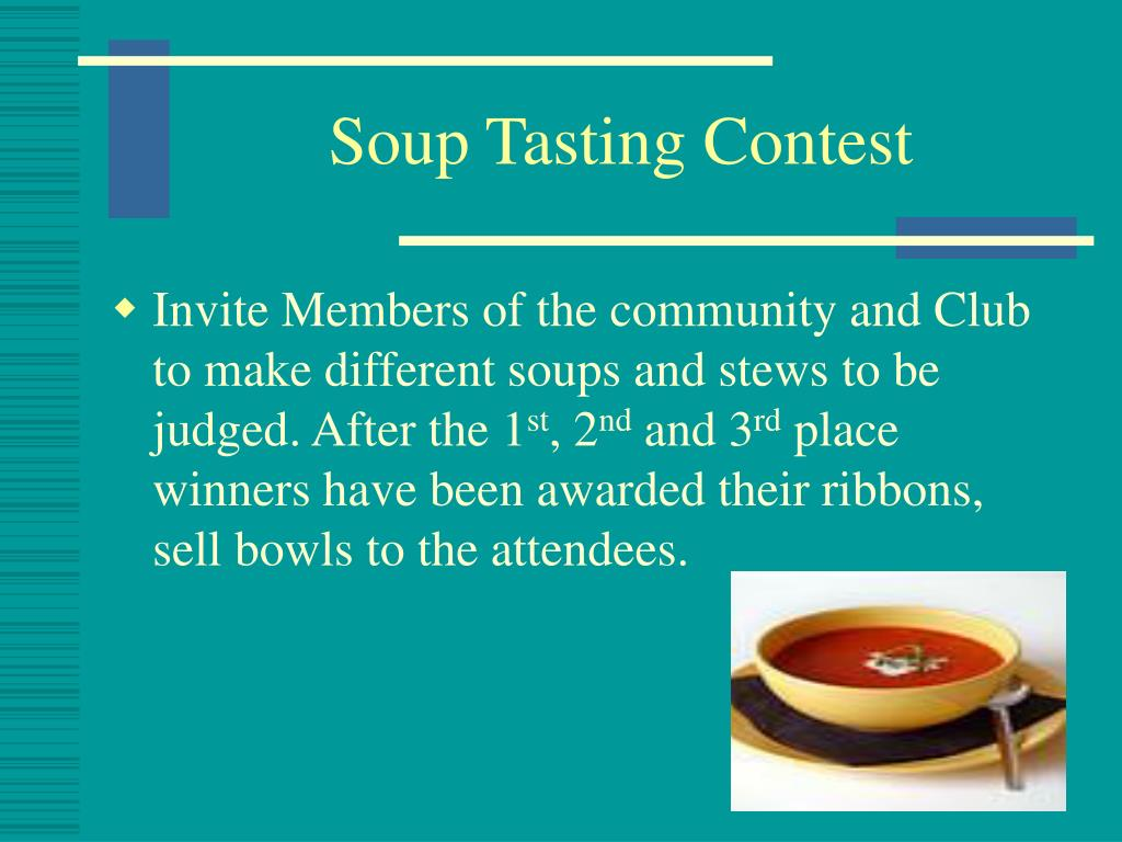 Soup Tasting Contest