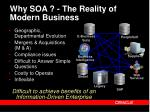 why soa the reality of modern business
