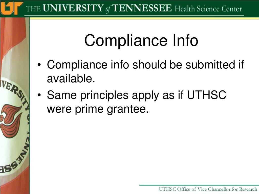 Compliance Info