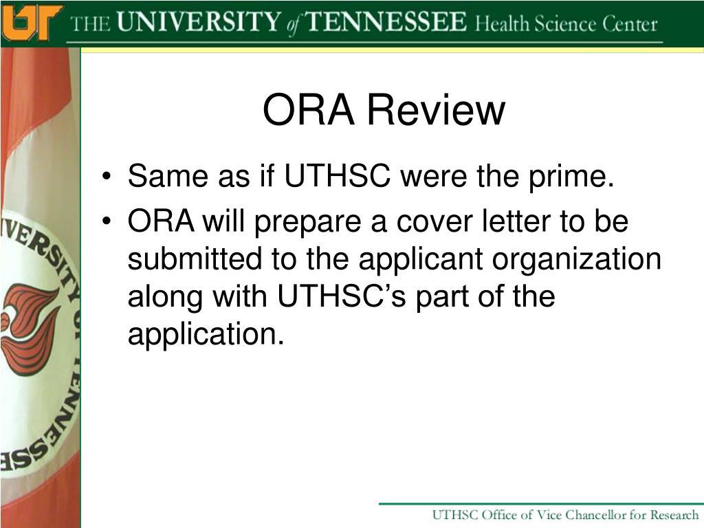 ORA Review