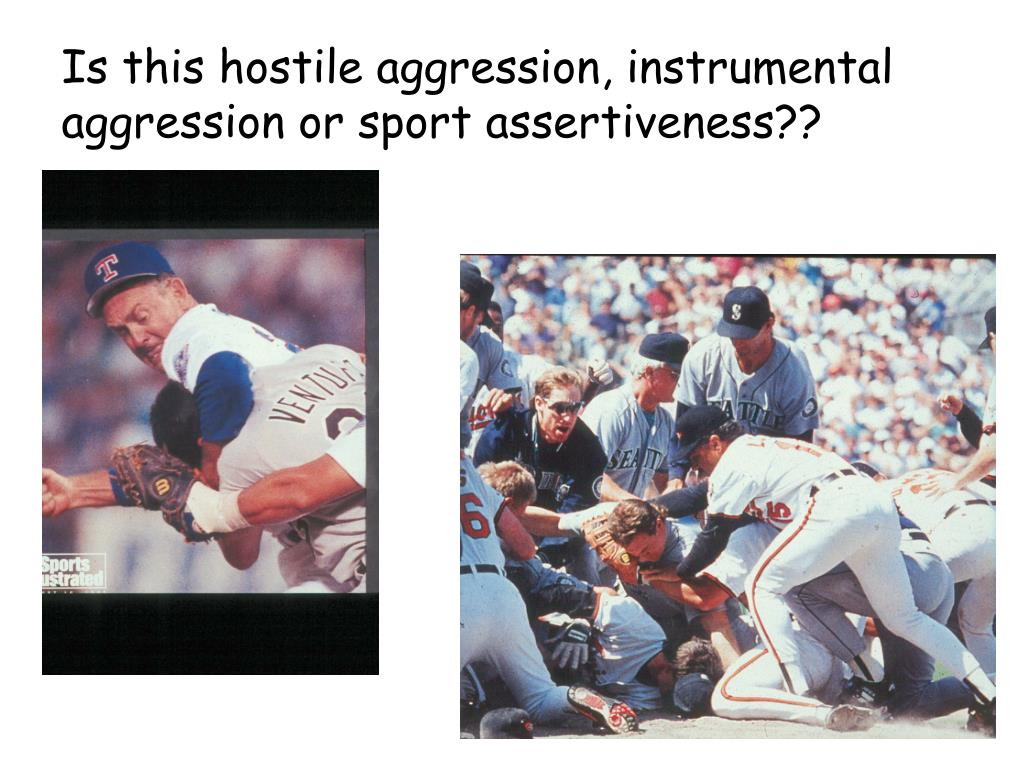 Is this hostile aggression, instrumental aggression or sport assertiveness??