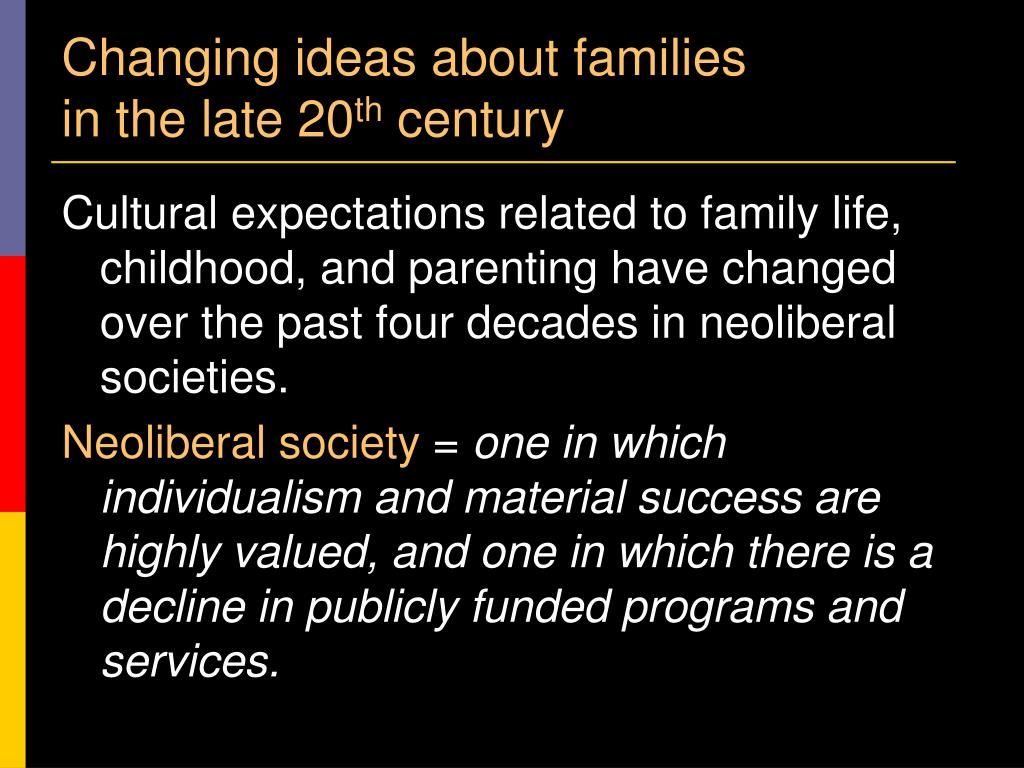 Changing ideas about families