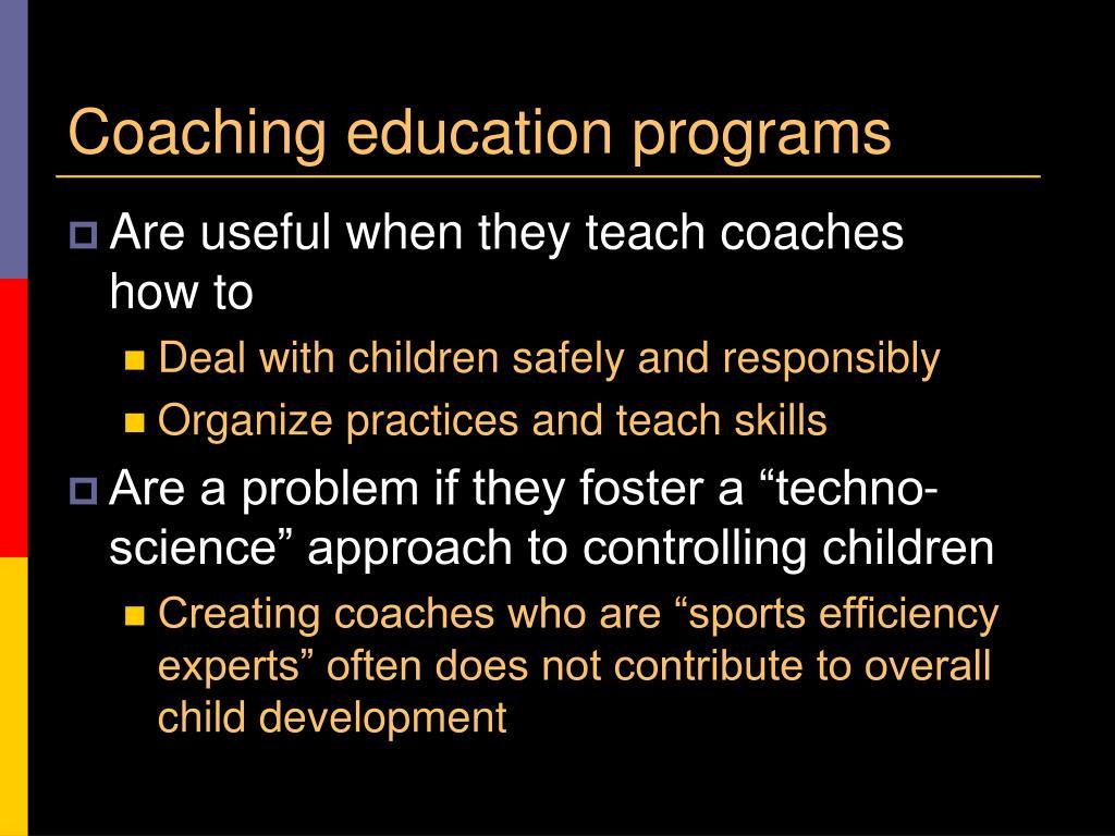 Coaching education programs