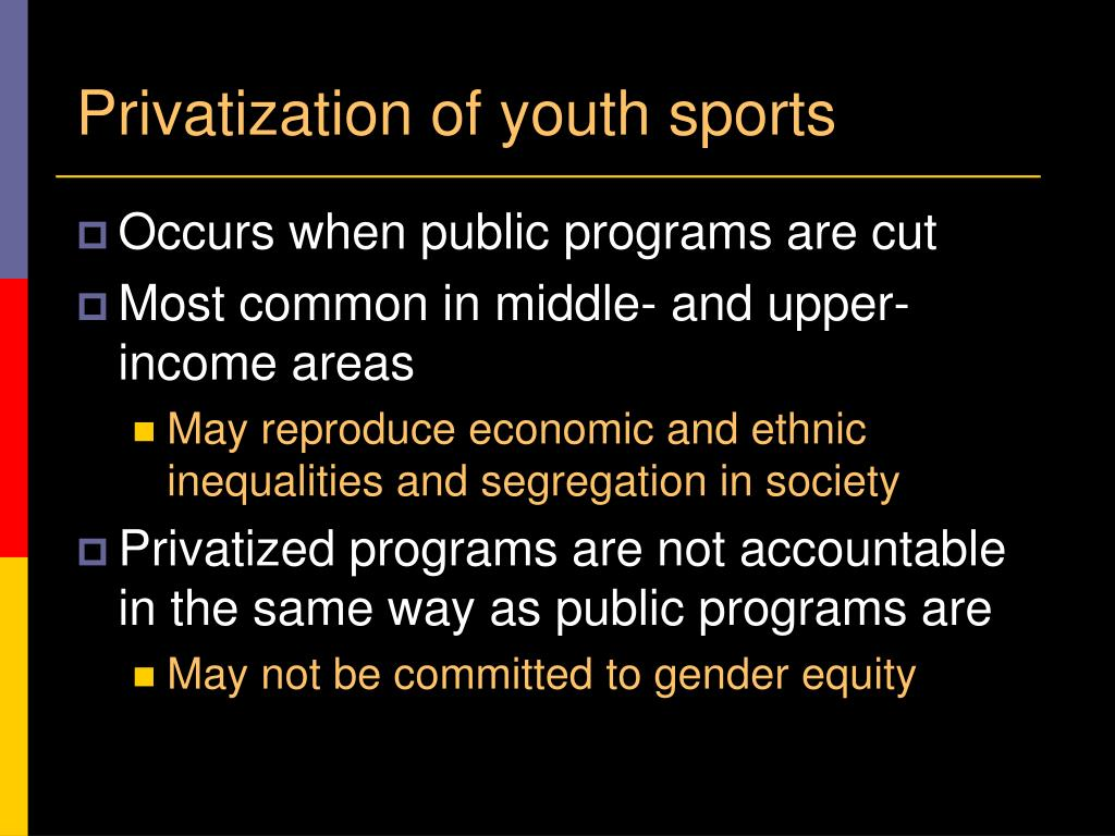 Privatization of youth sports