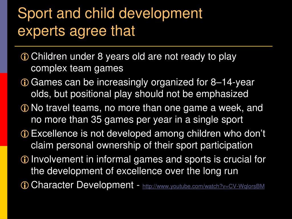 Sport and child development