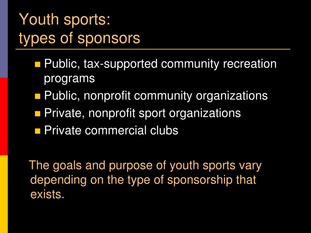 Youth sports: