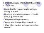 in practice quality improvement activities in ldcs are
