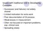 issues with traditional cqi in developing countries