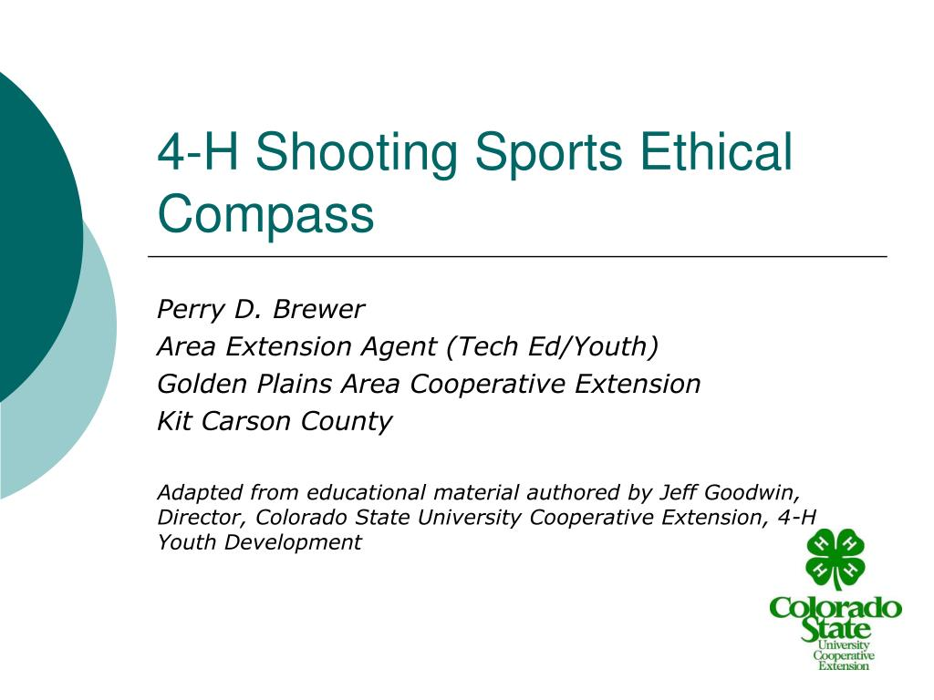4 h shooting sports ethical compass l.
