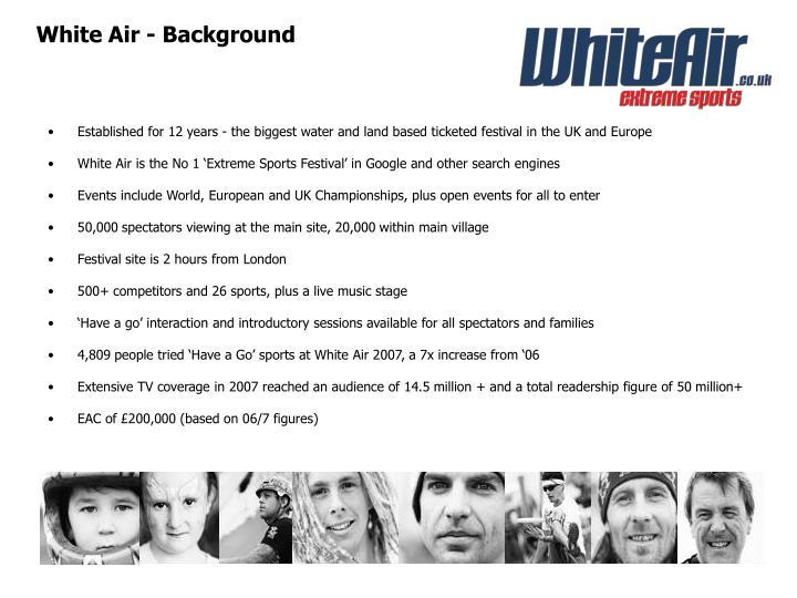 White Air - Background