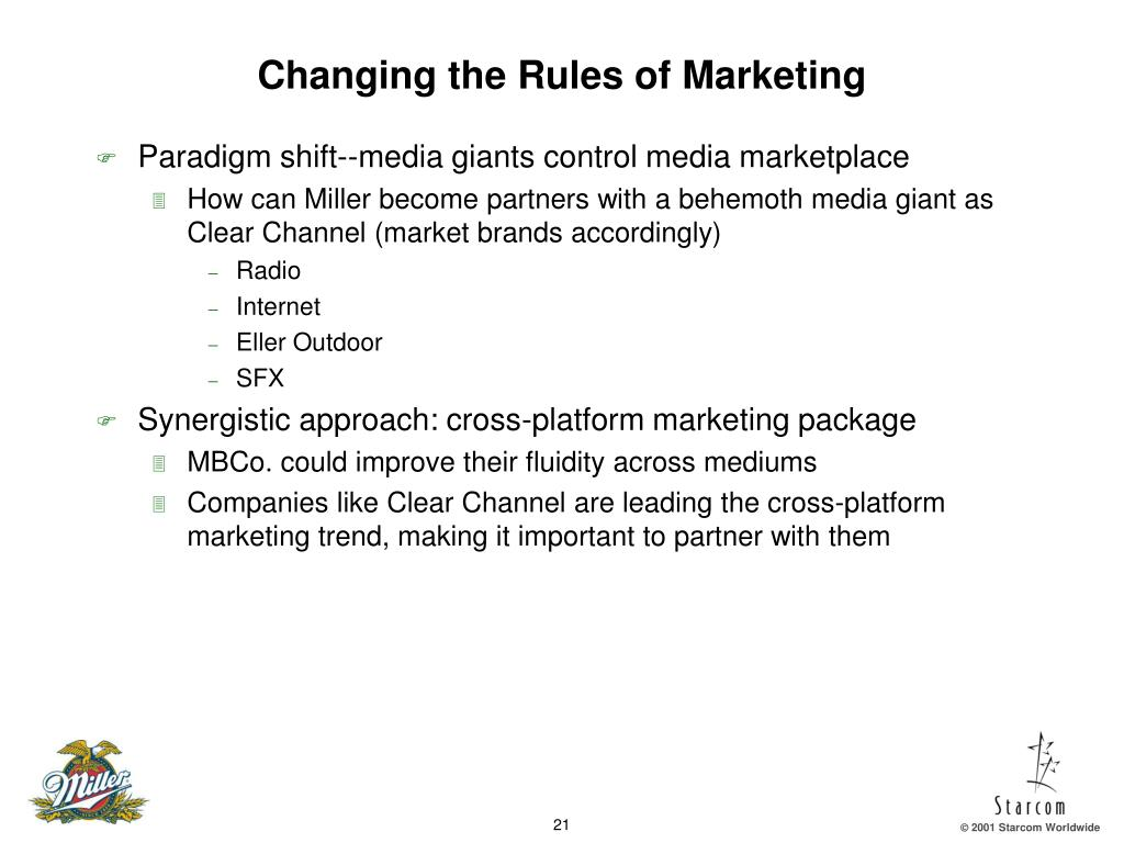 Changing the Rules of Marketing