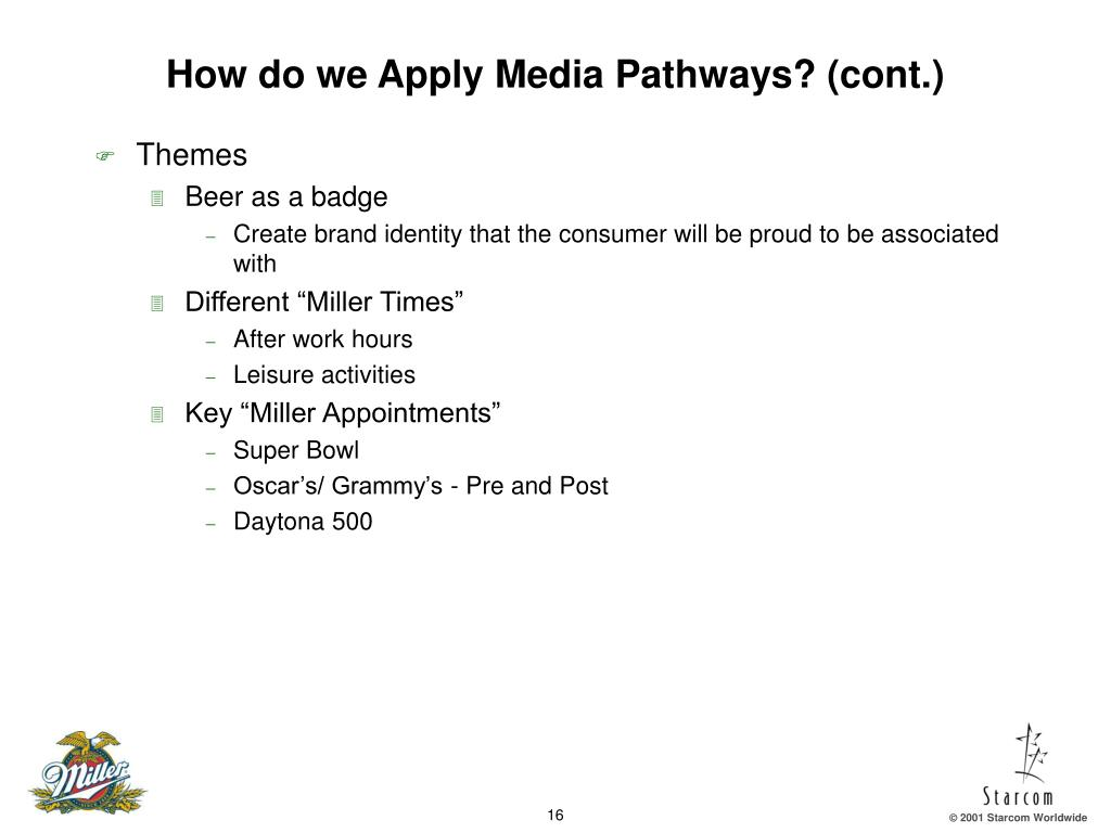 How do we Apply Media Pathways? (cont.)