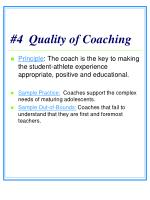 4 quality of coaching