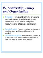 7 leadership policy and organization