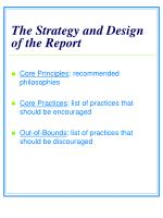 the strategy and design of the report