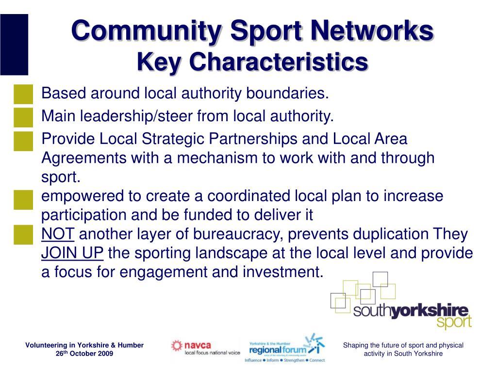 Community Sport Networks